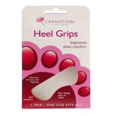 Carnation Heel Grips 1 Pair. Improves Shoe Comfort, Reduces Friction & Slipping
