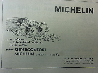 *ADVERTISING WERBUNG pubblicita'  MICHELIN SUPERCONFORT OMINO -- 1932