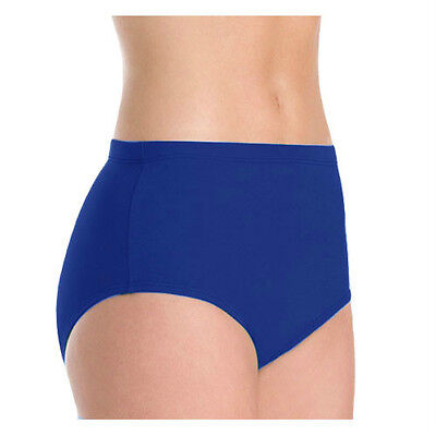Body Wrappers 100 Girl's Size 7-10 (Medium) Royal Blue Athletic Dance Briefs