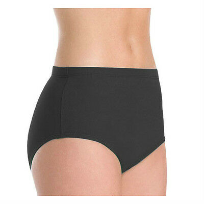 Body Wrappers 100 Girl's Size 7-10 (Medium) Black Athletic Dance Briefs