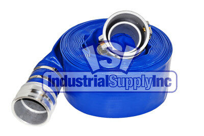 "4"" x 50ft Blue Water Discharge Hose Camlocks w/Free Shipping!"