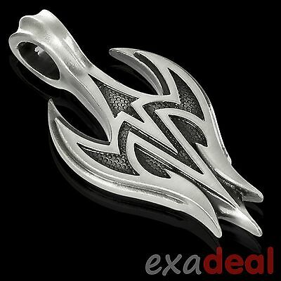 """BICO Pendant - E276 FU-XING """"For Good Fortune & Happiness"""" Tribal Pewter NEW"""