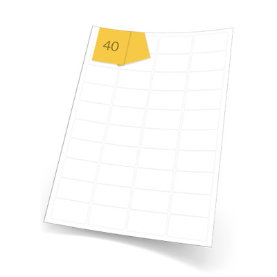 Blank White A4 Printer Labels. 4000 Self Adhesive Stickers (46mm x 25mm) L7654