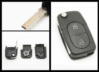 Audi A2 A3 A4 A6 A8 TT 2 Button Remote Key FOB Case Replacement CR1616 type
