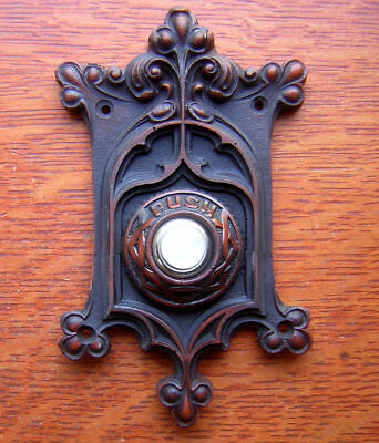 """New Victorian """"Berry & Leaf"""" Electric Doorbell Button"""
