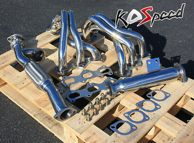 03-06 Gk Delta V6 6Cyl 2.7 Stainless Steel Racing Exhaust Header+Bolt+Gasket Gt