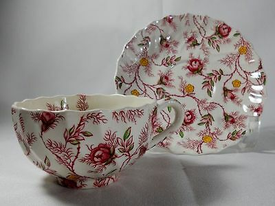 Spode Rosebud Chintz Cup(s) and Saucer(s)