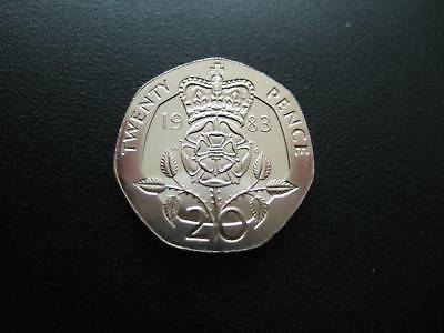 1983 Proof 20P Coin Housed In A New Capsule. 1983 Proof Twenty Pence Piece