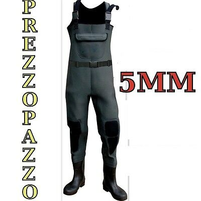 Stivale Neoprene Scafandro Pesca Wader Mosca Trota Spinning Surfcasting 43 Pl007