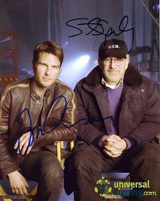 War of the Worlds CAST Signed 10x8 Photo Tom Cruise & Steven Spielberg RARE