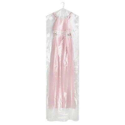 """6 Clear Polythene Dress Covers Garment Clothes Protector Bags 72"""" Hangerworld"""