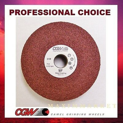"6"" x 2"" x 1"" Convolute Deburring Wheel, Aluminum Oxide 5/A/Medium for Finishing"