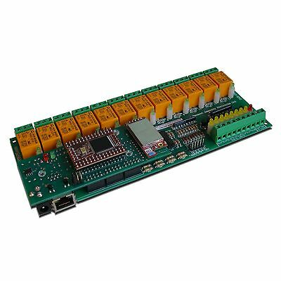 Wireless WiFi 12 Relay Channel Output ADC I/O Module Board - Home Automation