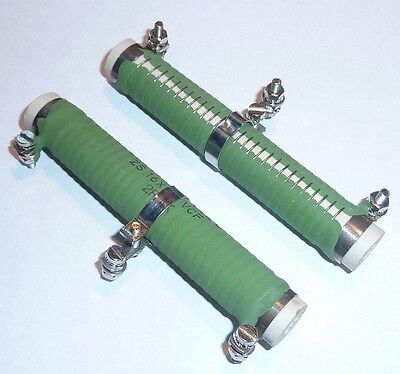 2R 20W Cement coated wire wound resistor with radial tabs and ADJUSTABLE LUG