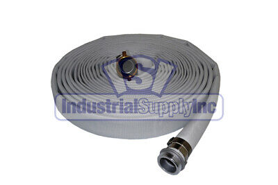"1-1/2"" x 50' Ultimate Single Jacket Fire Coupled Hose w/Pin Lug Fittings"