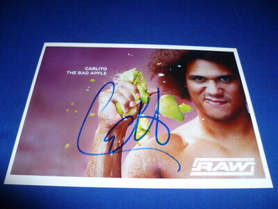 CARLITO signed  Autogramm In Person 13x18 WWE WRESTLING