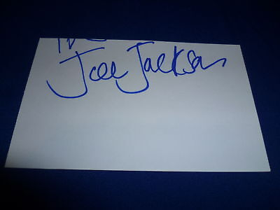 JOE JACKSON signed Autogramm In Person 9x15