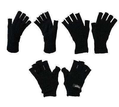 G38 Mens Outdoor Winter Fingerless Ski Glove Thermal / Thinsulate Lined / Magic