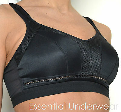NON WIRED, HIGH IMPACT, SPORTS BRA, BLACK or WHITE,  ALL SIZES, RUNING OR GYM