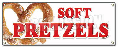 SOFT PRETZELS BANNER SIGN pretzel stand cart signs fresh hot baked big huge