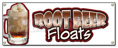 ROOT BEER FLOATS BANNER SIGN rootbeer float mug ice cream soda sundae cone