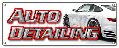AUTO DETAILING BANNER SIGN car wash wax signs carwash detail automobile