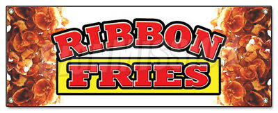 RIBBON FRIES BANNER SIGN hot chips french signs fresh frys fried