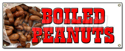 BOILED PEANUTS BANNER SIGN stand cart hot signs Georgia southern south nuts