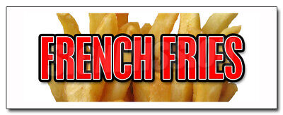 """12"""" FRENCH FRIES DECAL sticker fry cart stand trailer chips handcut hand cut"""