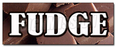 """36"""" FUDGE DECAL sticker chocolate concessions retail storefront marketing"""