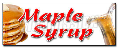 """12"""" MAPLE SYRUP DECAL sticker pancakes waffles Vermont new england farms honey"""