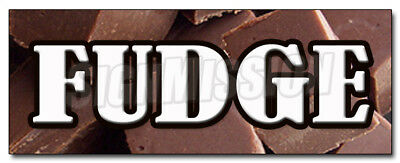 "12"" FUDGE DECAL sticker chocolate concessions flavors homemade candy shop"