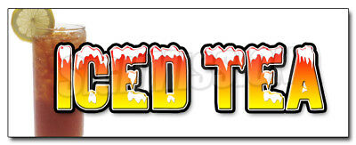"""24"""" ICED TEA DECAL sticker sweet ice drink cart stand southern style booth"""