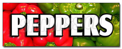 """36"""" PEPPERS DECAL sticker hot spicy sweet jalapeno vegetable marketing promotion"""