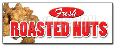 """24"""" ROASTED NUTS DECAL sticker fresh hot stand supplies equipment spiced"""