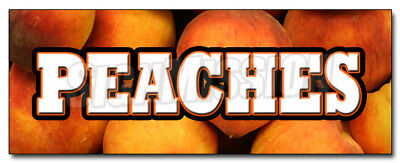 """24"""" PEACHES DECAL sticker peach fruit stand market produce marketing promotion"""