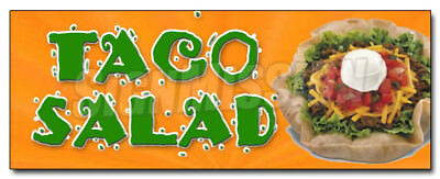 """24"""" TACO SALAD DECAL sticker mexican food restaurant promotional marketing"""