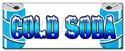 """24"""" COLD SODA 1 DECAL sticker ice drink cart stand retail storefront marketing"""