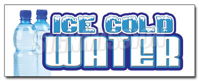 "12"" ICE COLD WATER DECAL sticker bottled water stand bottle spring iced drinks"