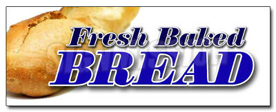 """24"""" FRESH BAKED BREAD DECAL sticker bakery shop retail storefront marketing"""