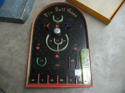 Old Pin Ping Ball Toy Deluxe Missile Game machine in orig. box  Pinball Layby!