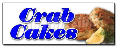 """24"""" CRAB CAKES DECAL sticker maryland seafood fried restaurant marketing"""