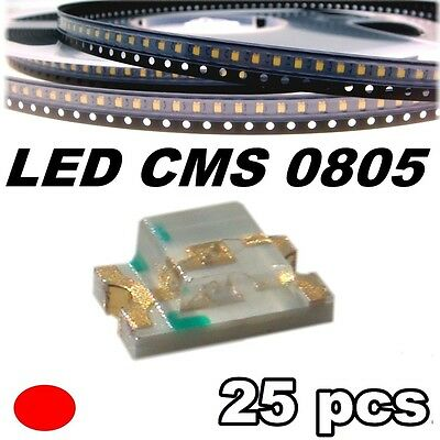 149/25# LED rouge CMS 0805 25 pcs -- SMD red