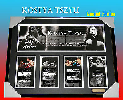 KOSTYA TSZYU BOXING CHAMPION SIGNED FRAMED LIMITED EDITION 499 w/ COA