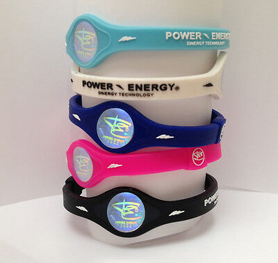 Power Energy Balance Bands Silicon Wristband Sports Hologram Bracelet Wrist Band