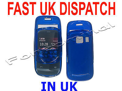 For Nokia C2 03 C2-03 Gel Case Protector Cover Blue New UK
