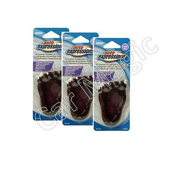 """Auto Expression New Cool Foot Car Air Freshener """"wildberries"""" X 3"""