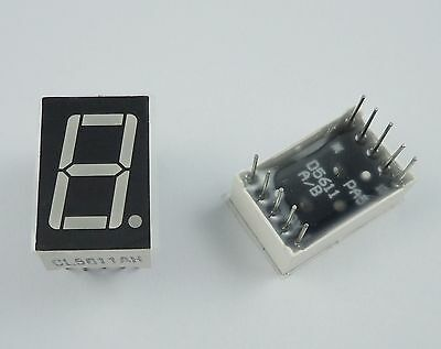"10Pcs Red LED Display 1 Digital 7 Segment 0.56"" Common Cathode"
