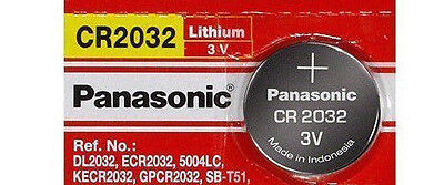 1 x SUPER FRESH Panasonic ECR2032 CR2032 Lithium Battery 3V Coin Cell Exp. 2028