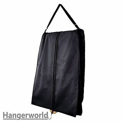 Hangerworld™ 72 in Black Wedding Dress Carry Cover Extra Wide Clothes Bag Gusset